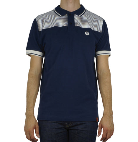 Trojan Bretton Stripe Polo - Navy