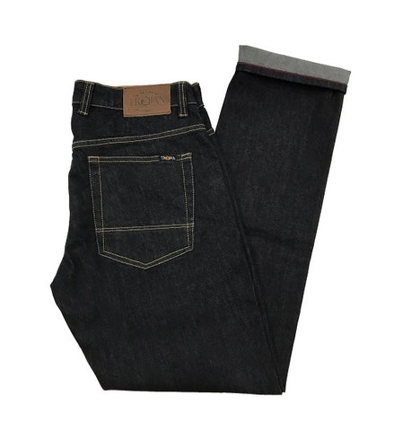 Trojan Straight Leg Jeans - Raw Wash