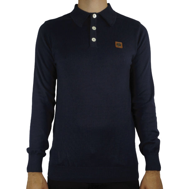 Trojan Spear Collar Polo - Navy - Trojan Records - ModWear