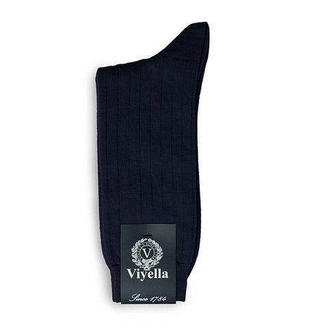 Viyella Wool Socks - Navy