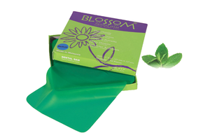 "Blossom 6"" x 6"" Medium Green Mint Dental Rubber Latex Dental Dam"