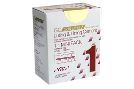 GC Gold Label Fuji I Mini Self-Curing Glass Ionomer Luting Cement Light Yellow 2580 - First Choice Dental Supplies