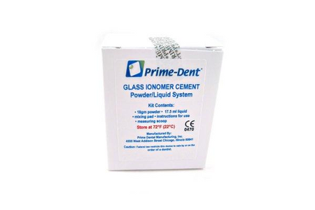 Prime-Dent Permanent Dental Glass Ionomer Luting Cement Kit for Crowns 010-020 - First Choice Dental Supplies