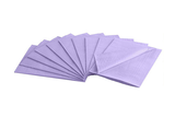 "House Brand Dental Patient Lavender Bibs 13"" x 18"" 2-Ply Paper/1-Ply Poly, Plain - First Choice Dental Supplies"