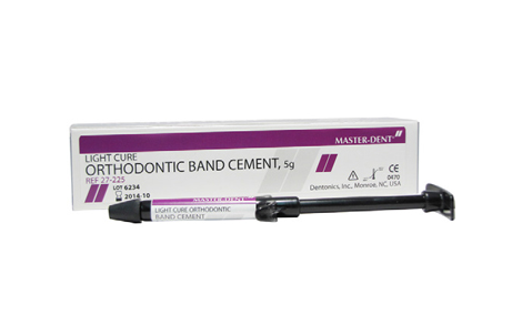 Master-Dent Light Cure Orthodontic Band Glass Ionomer Cement 5gm Syringe 27-225 - First Choice Dental Supplies