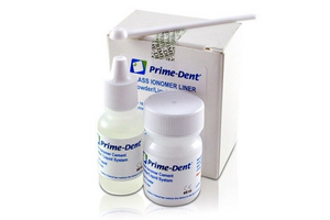 Prime-Dent Permanent Dental Glass Ionomer Liner Cement Kit for Crowns 010-020Liner