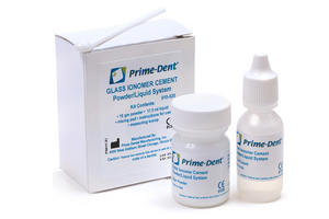 Prime-Dent Permanent Dental Glass Ionomer Luting Cement Kit for Crowns 010-020 - First Choice Dental Supplies 1
