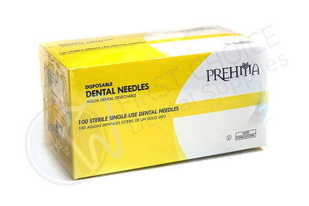 Keystone Industries Prehma Disposable Dental Surgical Plastic Hub Needle (Box of 100) - 27g Short