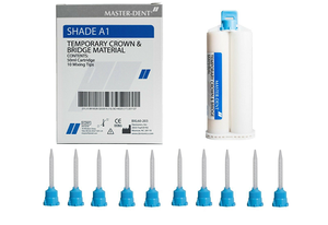 Master -Dent Dentonics Temporary Crown & Bridge Material Shade A1 Automix 50ml Cartridge Dental - First Choice Dental Supplies