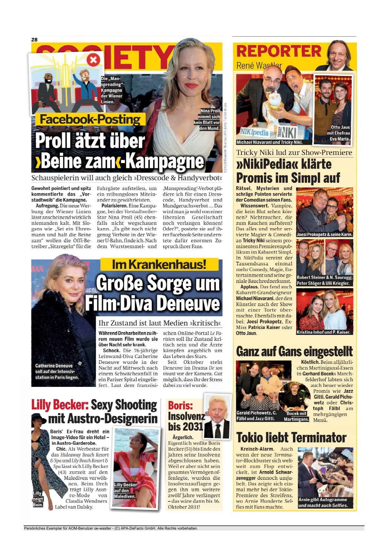 "van Dalsky & Lilly Becker featured at  ""Österreich"" Newspaper"
