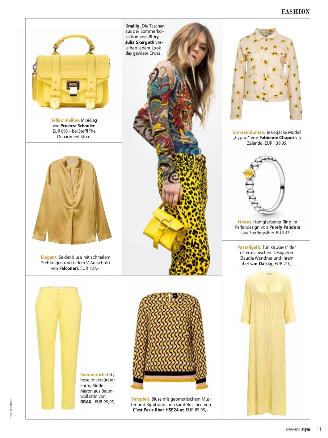 "Our ""sunshine"" tunic Aava @ Weekend Magazin"