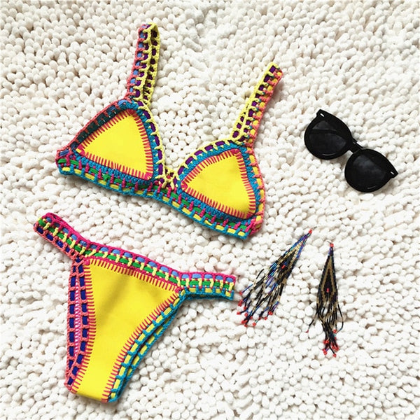 Sexy Knitted  Bikini Swimwear