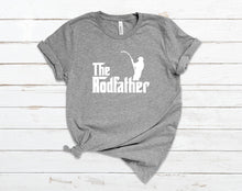 Load image into Gallery viewer, The Rod Father Dad T-Shirt