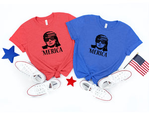 'Merica Trump Patriotic T- Shirt - 4th of July - America