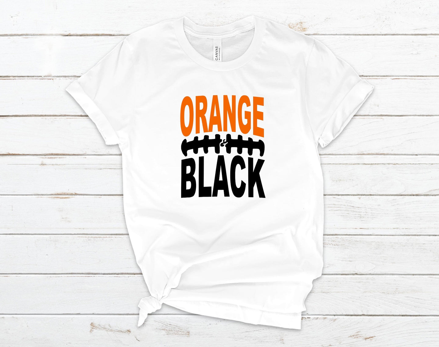 Orange & Black - High School - College T Shirt