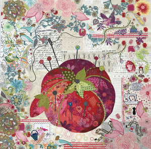 Mini Pincushion Collage Pattern by Laura Heine