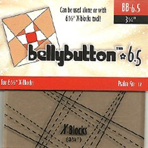 "6.5"" BellyButton X-Blocks Template by Cactus Queen Quilt Co"