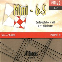 "6.5"" Mini X-Blocks Template by Cactus Queen Quilt Co"