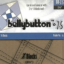 "7.5"" BellyButton X-Blocks Template by Cactus Queen Quilt Co"