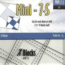 "7.5"" Mini X-Blocks Template by Cactus Queen Quilt Co"