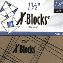 "7.5"" X-Blocks Template by Cactus Queen Quilt Co"