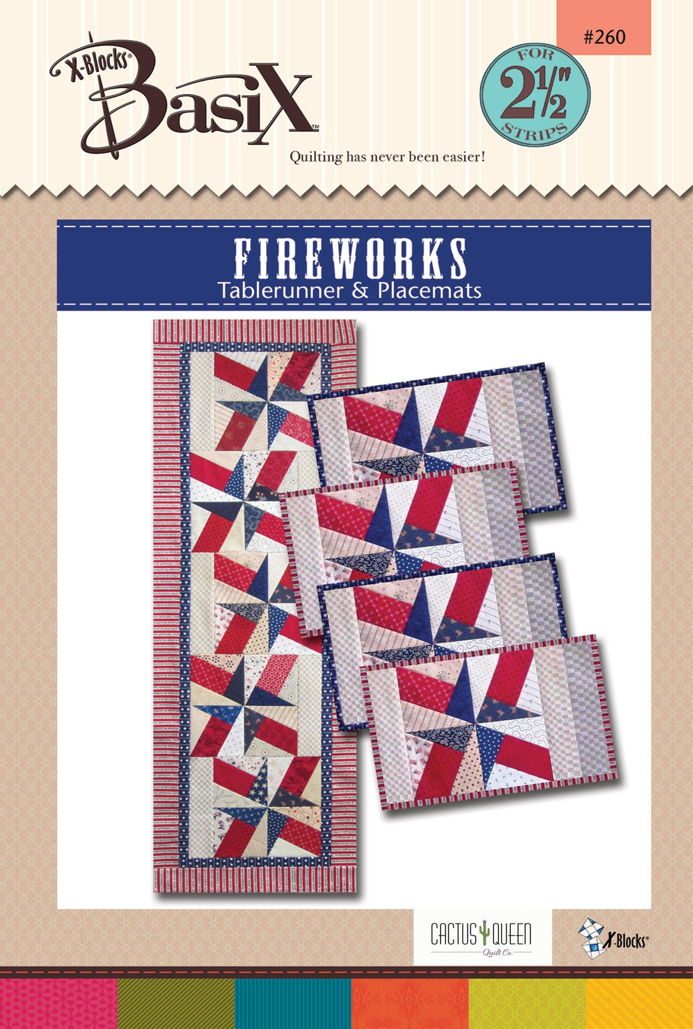 Fireworks Quilt Pattern by Cactus Queen Quilt Co