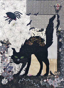 Black Cat Collage Kit by Doris Rice