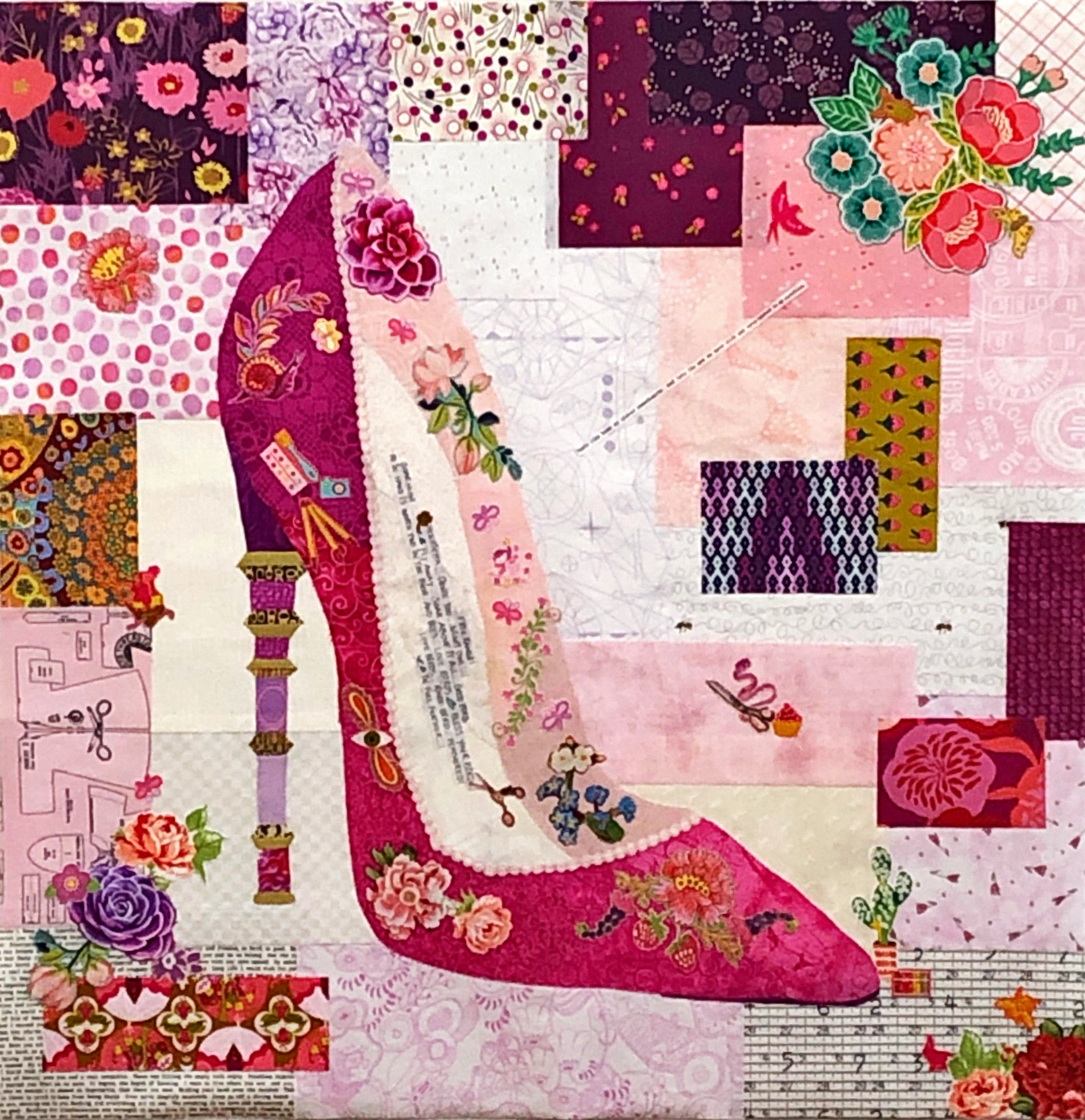 Pink Pump Collage Kit by Doris Rice