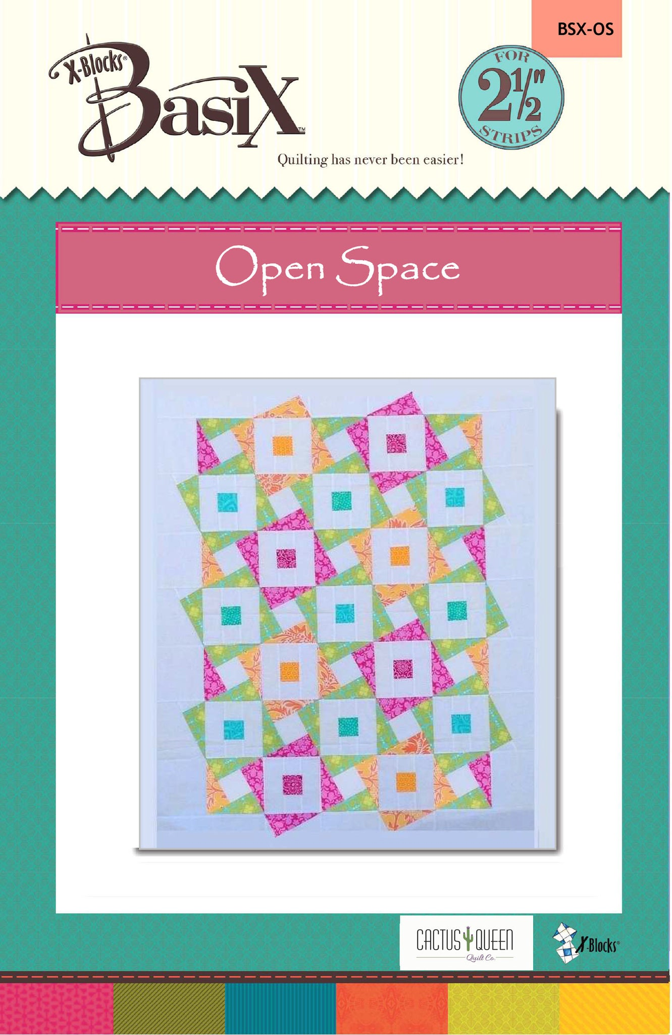 Open Space Quilt Pattern by Cactus Queen Quilt Co