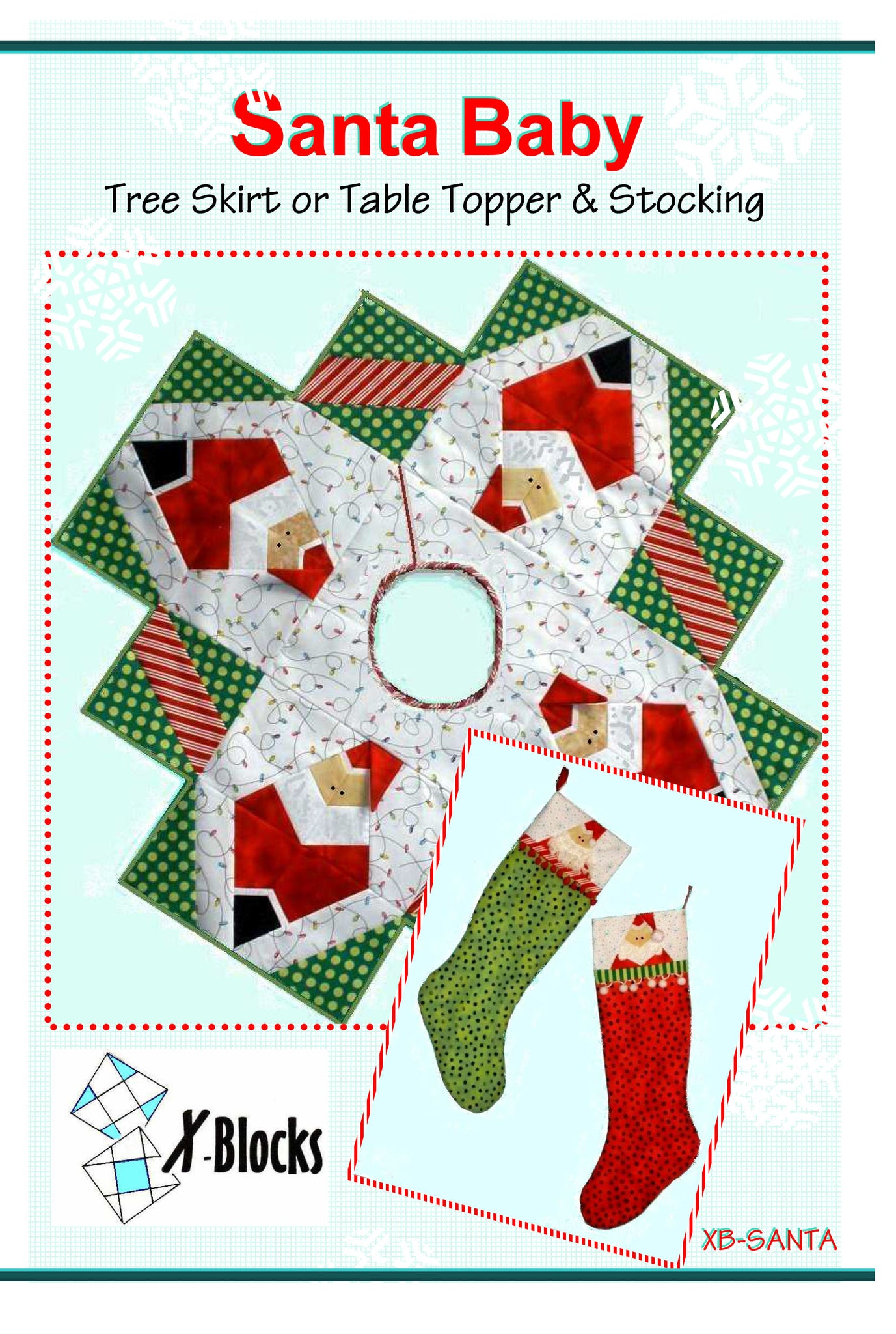 Santa Baby Tree Skirt X-Blocks Pattern