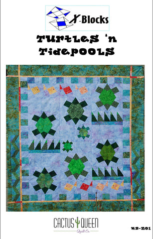 Turtles'n Tide-pools X-Blocks Pattern