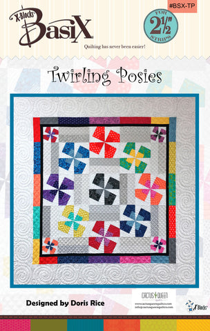 Twirling Posies Quilt Pattern by Cactus Queen Quilt Co