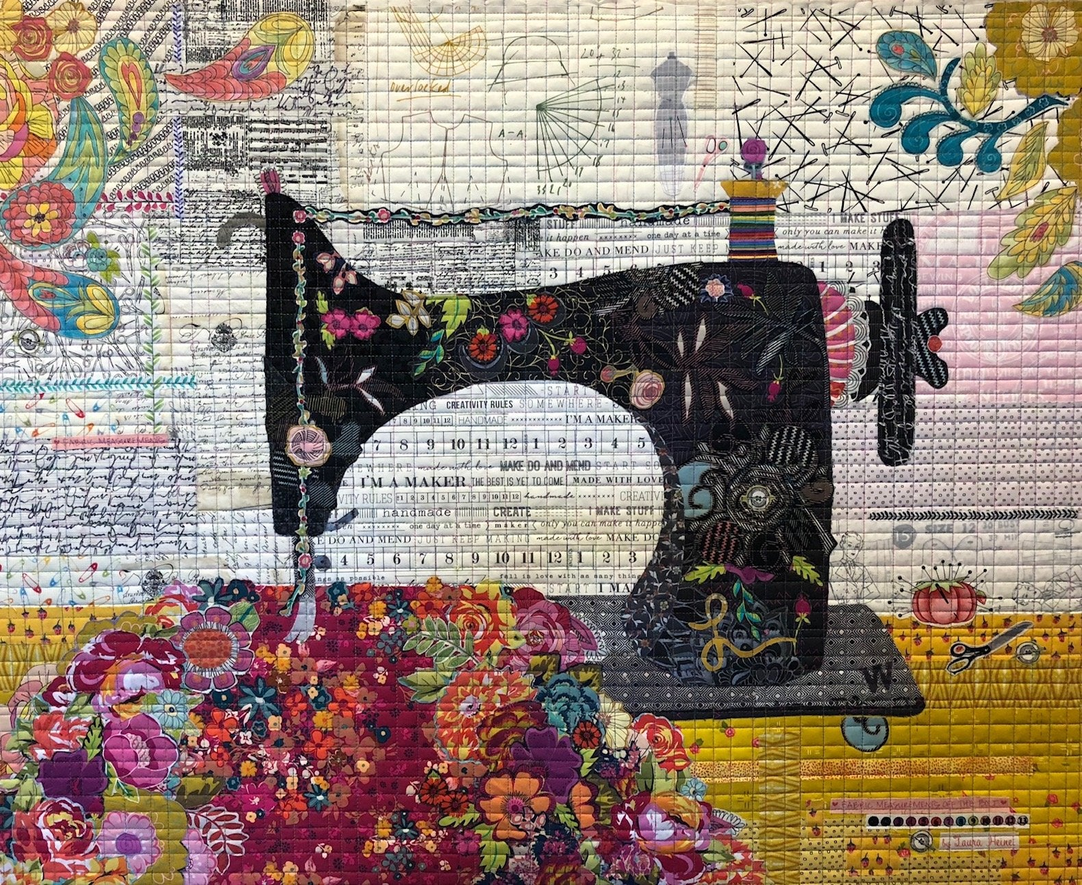 Featherweight Collage Pattern by Laura Heine