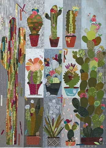 Cactus Sampler Collage Pattern by Laura Heine