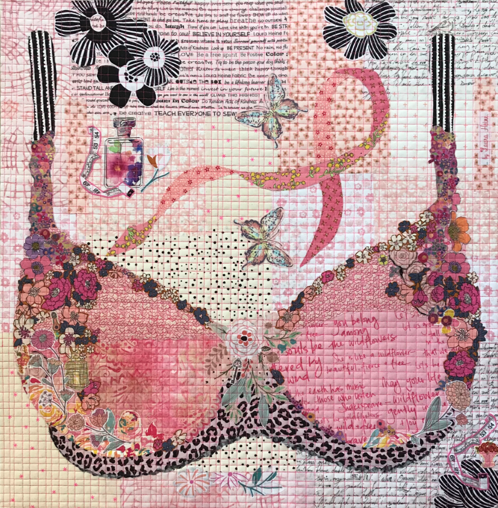 Pretty in Pink Collage Quilt Pattern by Laura Heine