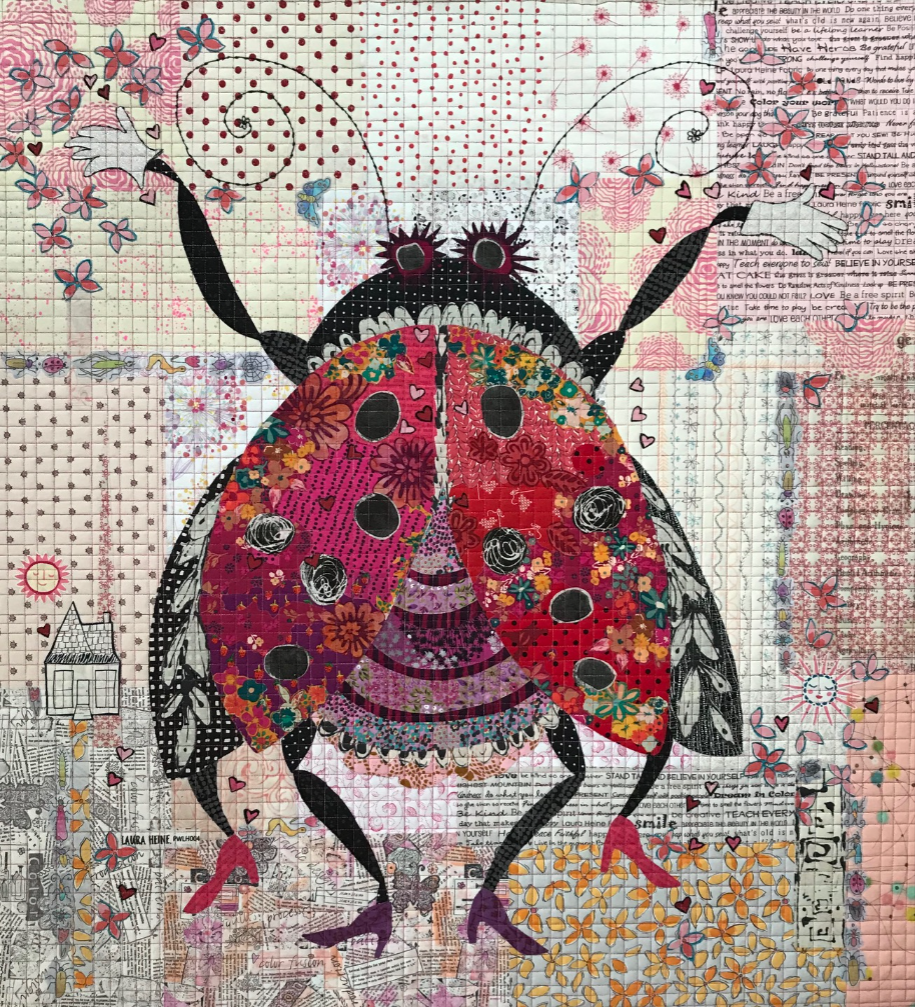 Scarlett (Lady Bug) Collage Quilt Pattern by Laura Heine