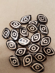 Agate dZi Bead Black/White