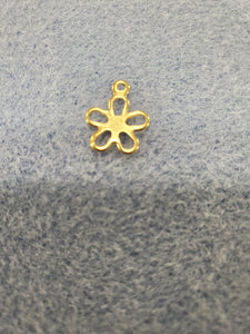 304 Stainless Steel Golden Flower Charm