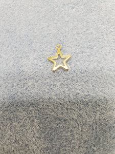 304 Stainless Steel Golden Star Charm