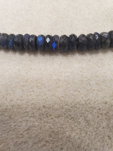 Labradorite Black Faceted Rondelle
