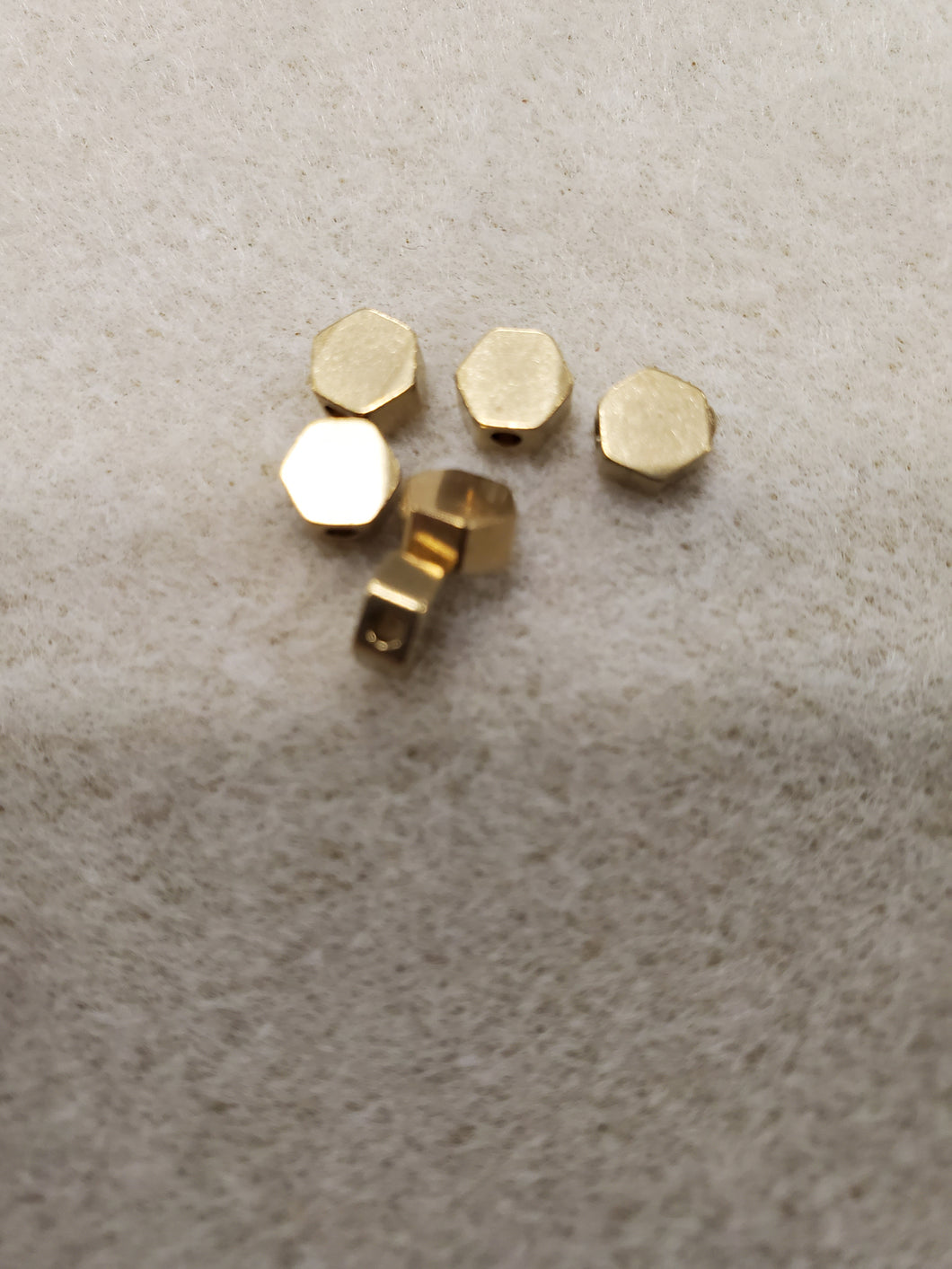 Brass Hexagon Bead