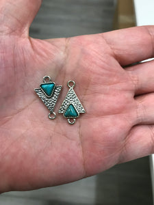 LINK ANT. SILVER IMIT. TURQUOISE