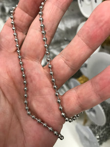 ELECTROPLATED STAINLESS CHAIN BALL 3.2MM