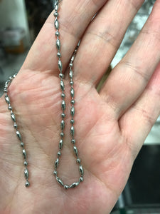 ELECTROPLATED STAINLESS CHAIN RICE/BALL 2.4MM