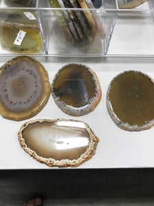 AGATE SLICE DRILLED