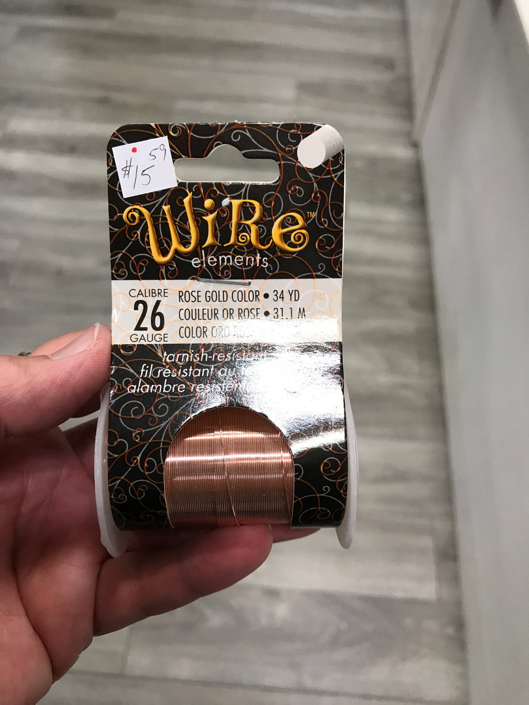 WIRE ROSE GOLD 26G