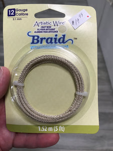 CRAFT WIRE BRAID SILVER