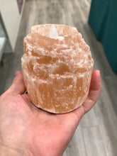Load image into Gallery viewer, ORANGE SELENITE CANDLE HOLDER