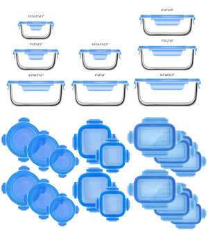 Glasslock Assorted Food Storage Containers, 36-Pcs Set - EverydaySpecial
