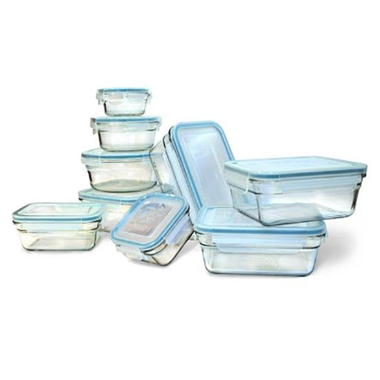 Glasslock Assorted Food Storage Containers, 18-Pcs Set